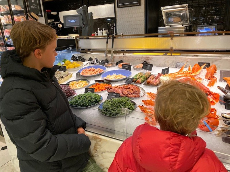 harrods food hall fish