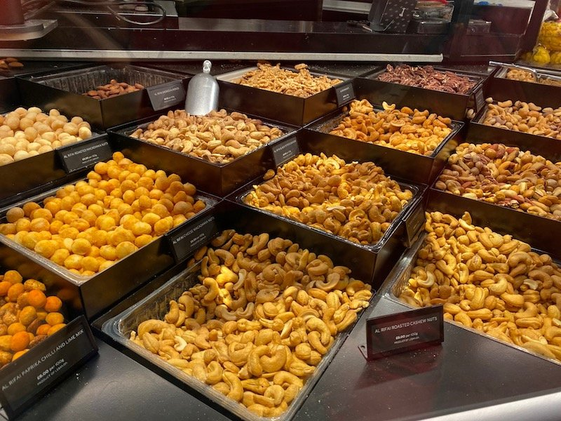 harrods food hall nuts