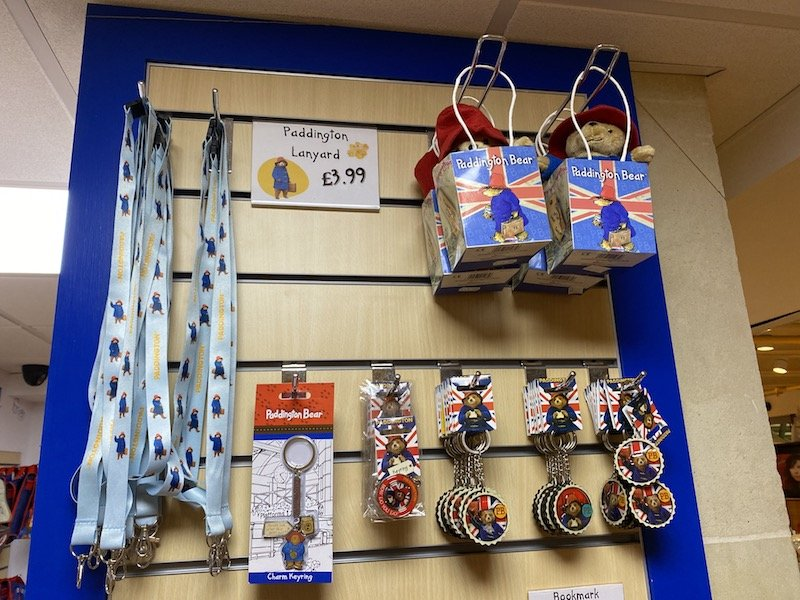 paddington bear shop in london keyrings and lanyards