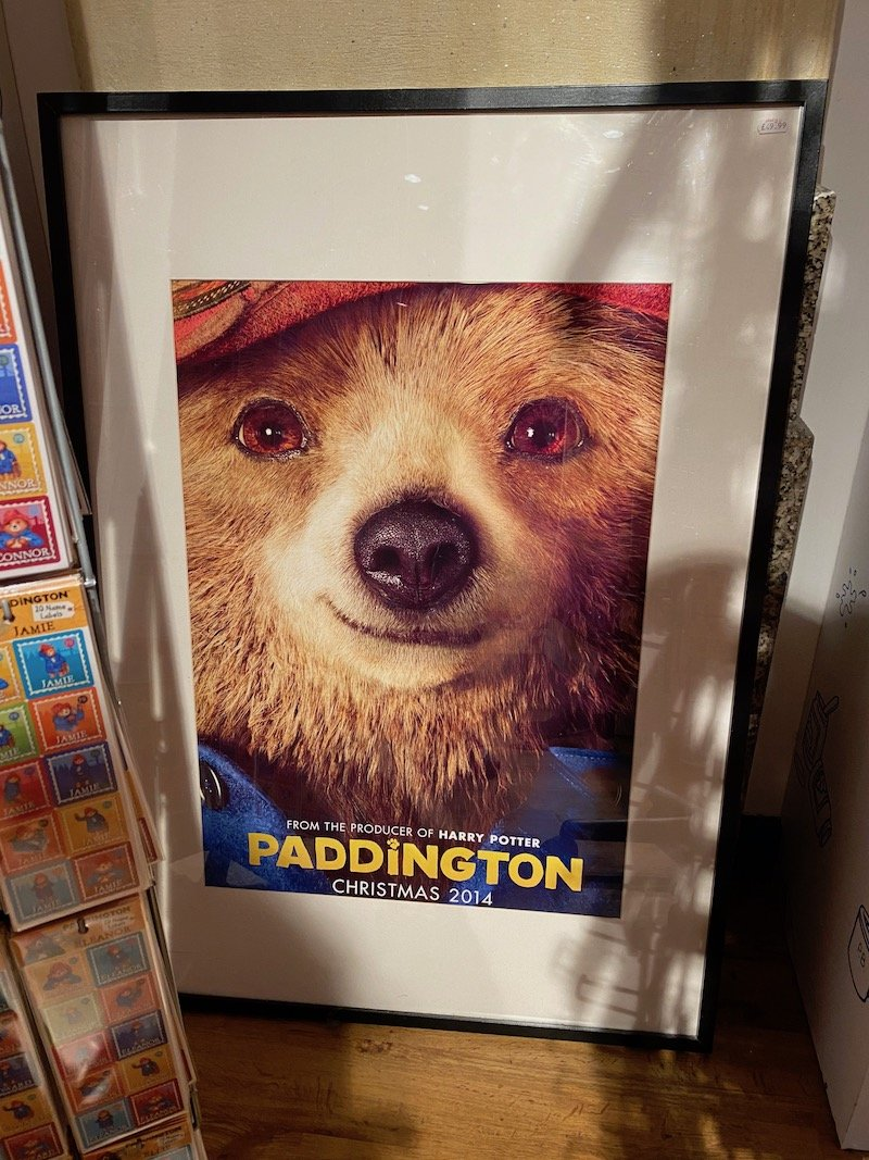 paddington bear shop in london movie poster
