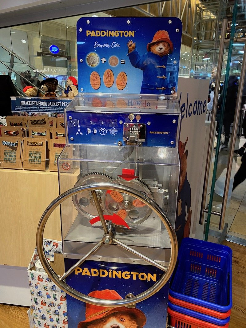 paddington bear shop in london pressed pennies