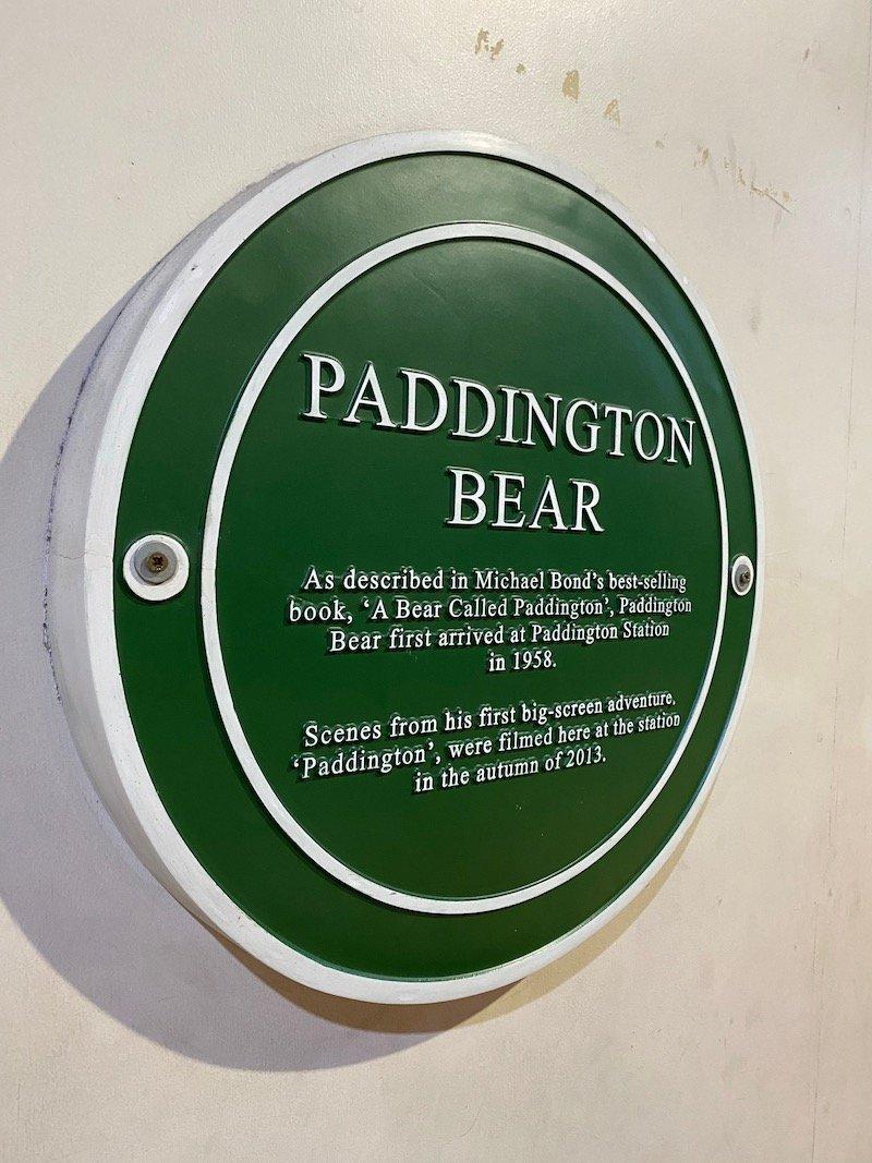 paddington bear film location marker pic