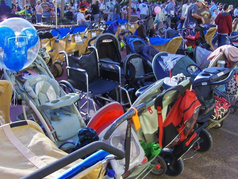 Disney stroller parking
