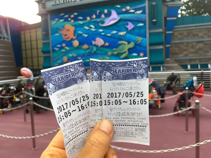 disney japan - nemo and friends ride fast passes pic 800