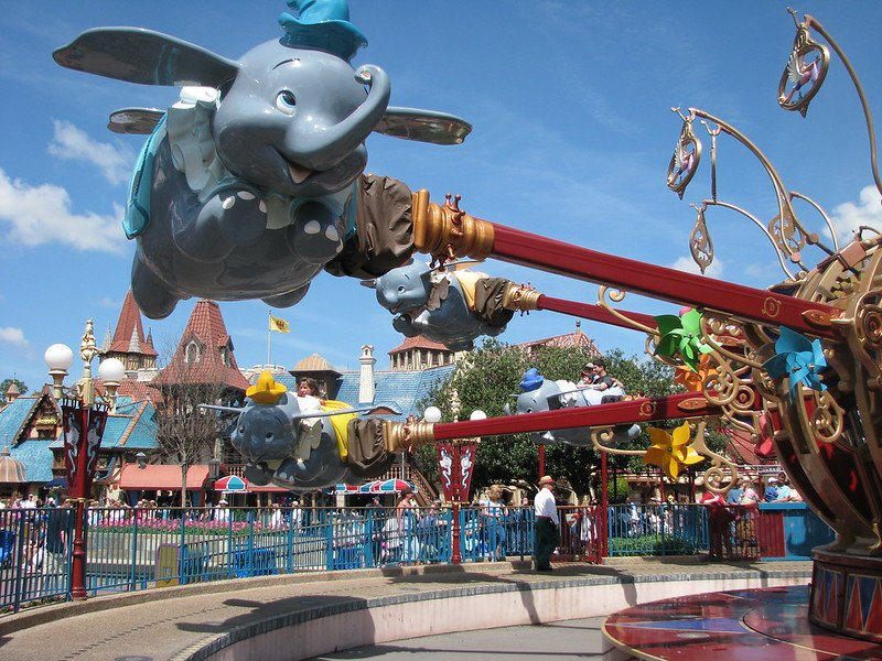 dumbo the flying elephant ride by chris harrison