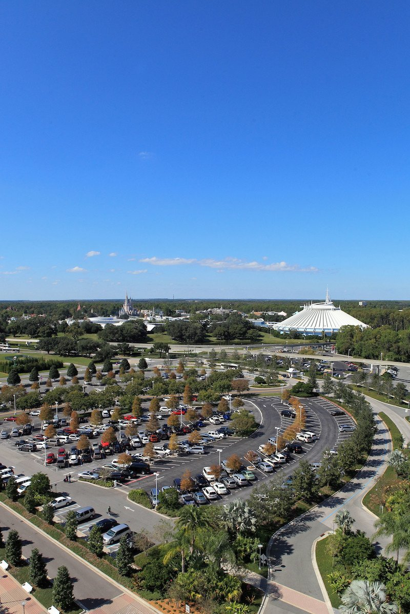 magic kingdom and contemporary resort parking lot by steven miller