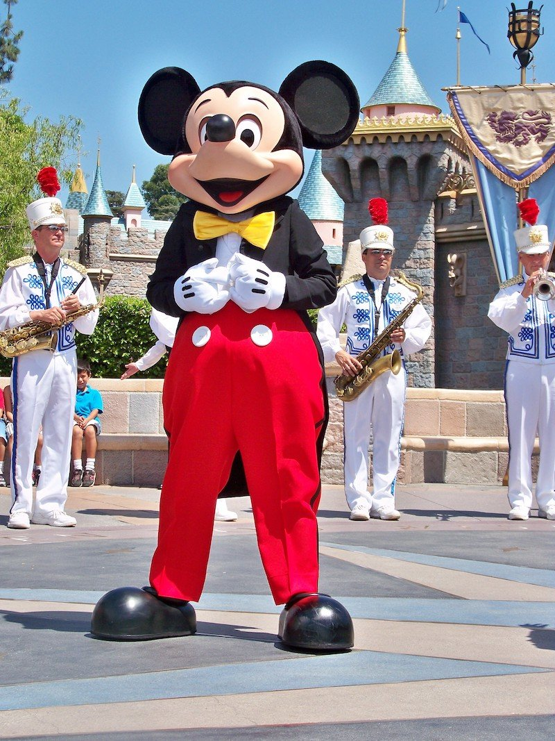 mickey mouse at disneyland by loren javier