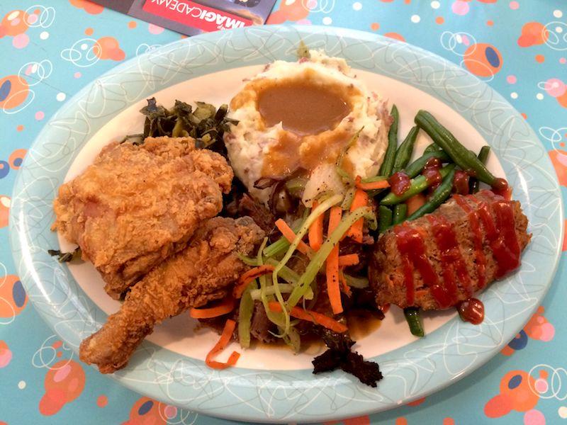 50's prime time cafe sampler platter dinner 800