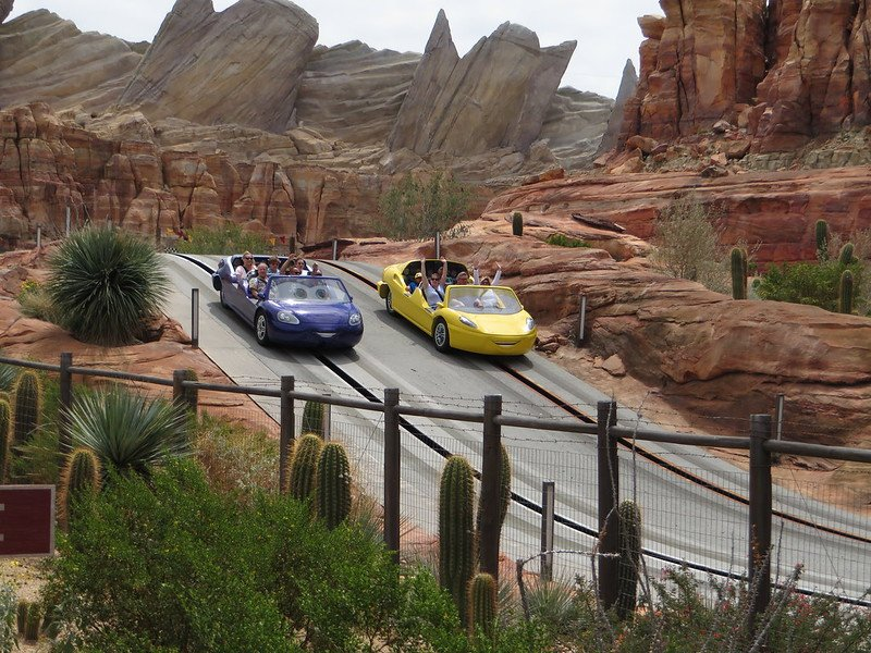 radiator springs racers at cars land disney california park by ken lund
