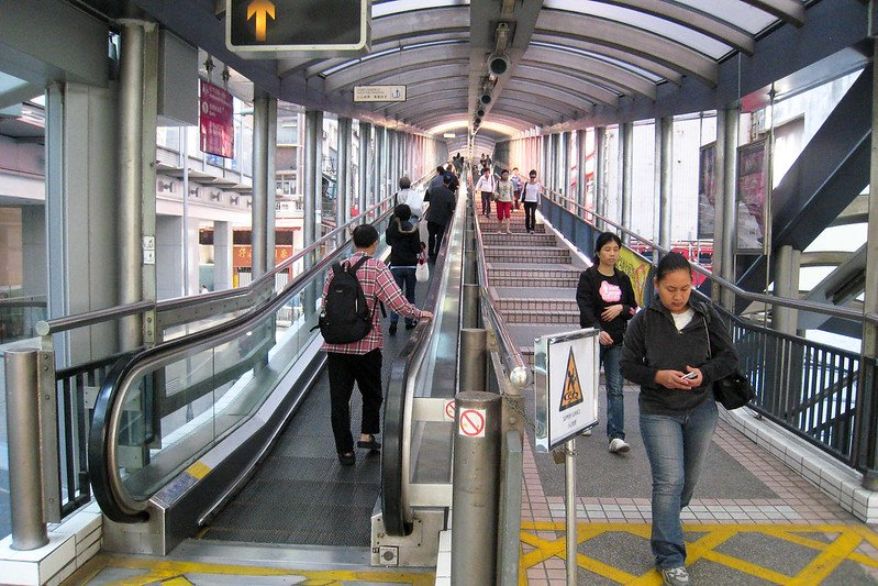 central escalators in hong kong undercover walkway pic by doug letterman