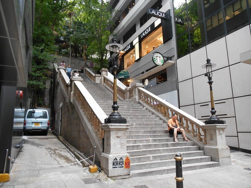 duddell street steps and gas lamps by mike flickr