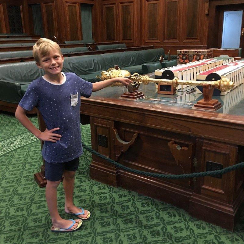 museum of australian democracy gold staff pic