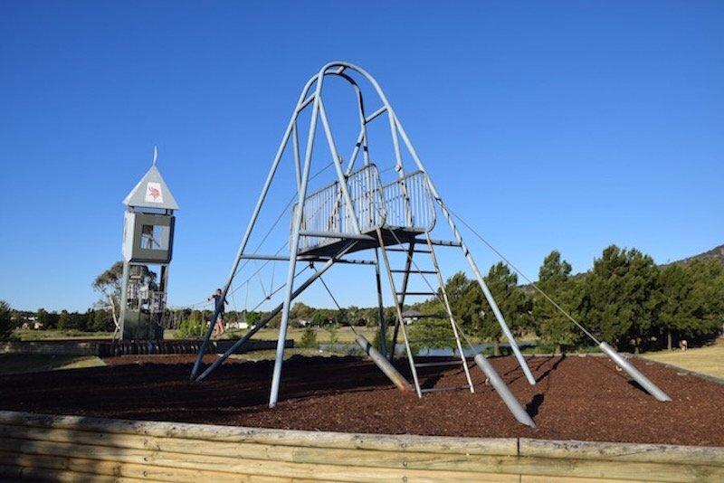pic - gordon playground canberra Gordon Playground tower and bridge