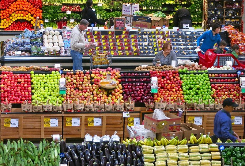 supermarket fruit aisles by dean hochman